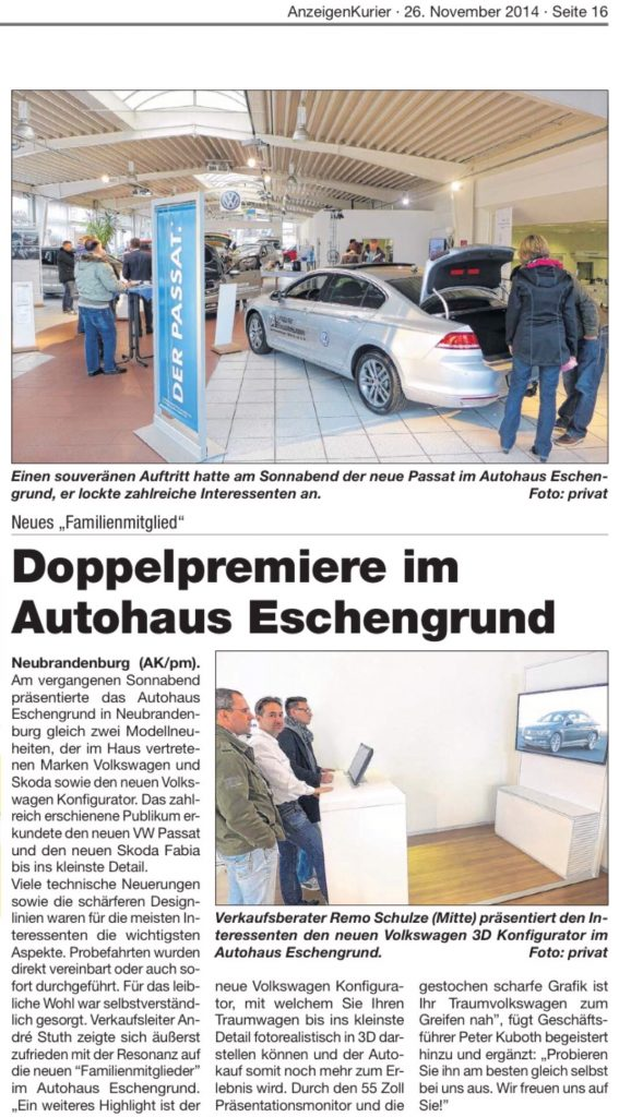 3 D Konfigurator Autohaus Eschengrund