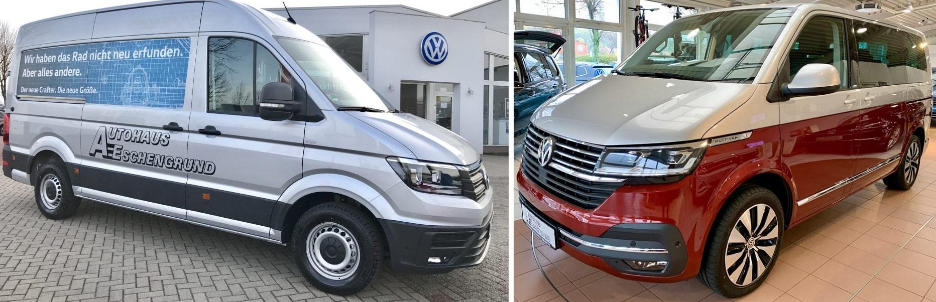 Auch VW Nutzfahrzeuge (z. B. Crafter, Transporter, Multivan) können Sie bei uns günstig mieten.